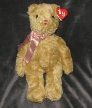 "Ty Rumples Plush Bear 18"" Light Brown Tan Pink Ribbon Bow 18"" 12"" 1990 # 5003 - $46.42"
