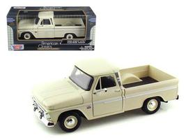 1966 Chevrolet C10 Fleetside Pickup Cream 1:24 Diecast Car Model by Moto... - $33.46
