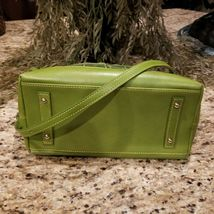 Large DOONEY & BOURKE Apple Green Embossed Croc Leather Satchel Crossbody  image 4