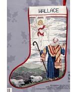 Candamar Angel and Shepherd Nativity Christmas Cross Stitch Stocking Kit... - $122.95
