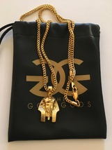 The Gold Gods 18K Gold Plated Pharoh Head Necklace - $79.95