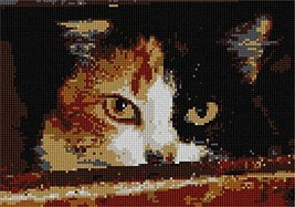 pepita Menacing Cat Needlepoint Canvas - $40.00
