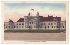 KINGSTON Ontario, The Armouries, c1920-30s vintage Canada postcard - $2.95