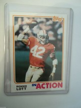 1982 TOPPS FOOTBALL RONNIE LOTT IN ACTION CARD #487 NRMT-MT SAN FRANCISC... - $5.34
