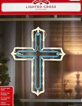 Lighted Window Decoration, Cross - £35.34 GBP