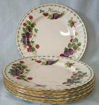 Royal Albert Covent Garden Fruits Plum Salad Plate, Set of 6 - $70.18