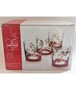 Studio Nova Holly Berry Red Christmas Holiday Whiskey Glasses Tumblers 1... - $39.60