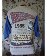 Vintage Brooklyn Dodgers 1955 MLB World Series 1994 Cooperstown T Shirt ... - $49.44
