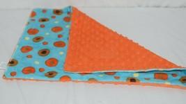 Baby Laundry Minky Blanket Orange Brown Yellow Unisex image 2