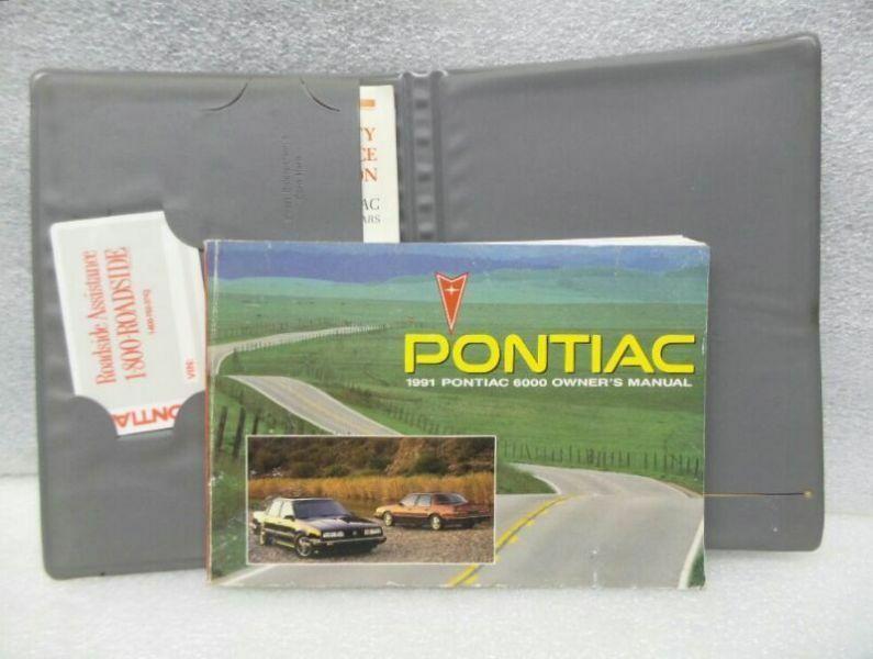 1991 Pontiac 6000 Owners Manual w/ Case 16218