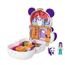 Polly Pocket Flip & Find Panda Compact, Flip Feature Creates Dual Play Surfaces, - $24.49