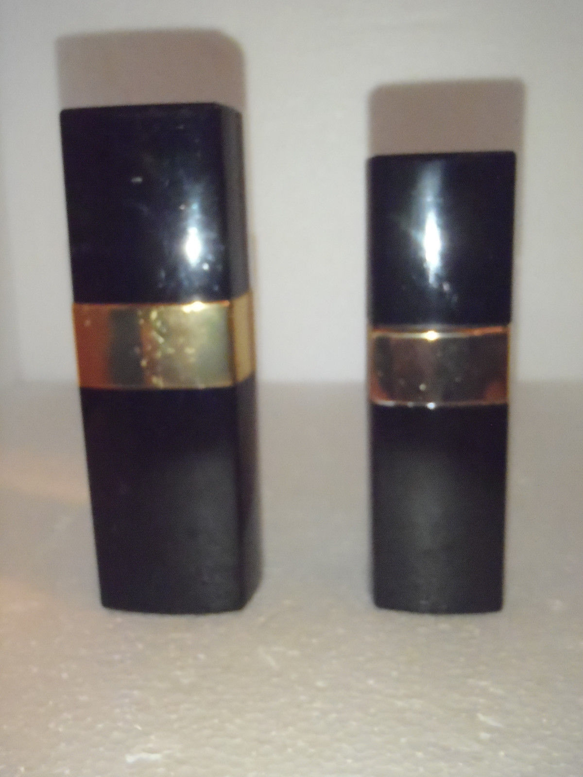 2 Vintage CHANEL No. 5 Perfume Toilette Containers Brass Spray 50 & 100 ml