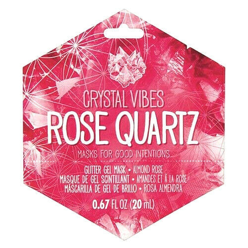 Rose Quartz Vibes Glitter Gel Face Mask Almond Rose Cruelty-Free