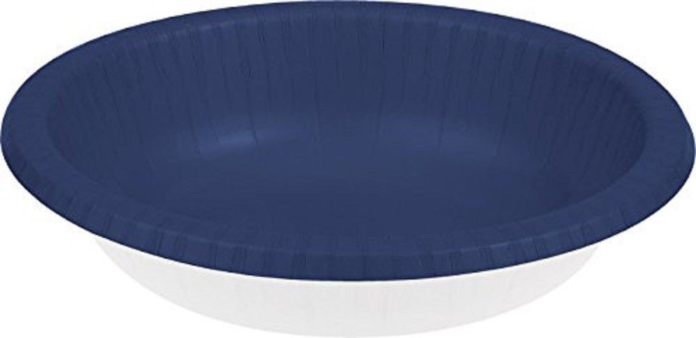 20 Count Paper Bowl, 20 oz Creative Converting Touch of Color - navy blue