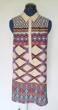 Walter Baker W118 Womens Sheath Dress Sz Small Southwestern Sleeveless Mod Shirt - $38.54