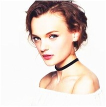 Simple Fashion Black Velvet Leather Clavicle Collar Choker Necklace Chain  - $7.91
