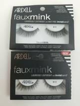 Ardell Eyelashes Faux Mink 811- Black Fake Lashes, Knot Free (Lot of 2  - $8.49
