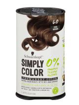 Schwarzkopf Simply Color Permanent Hair Color 6.0 Cool Brown - $15.95