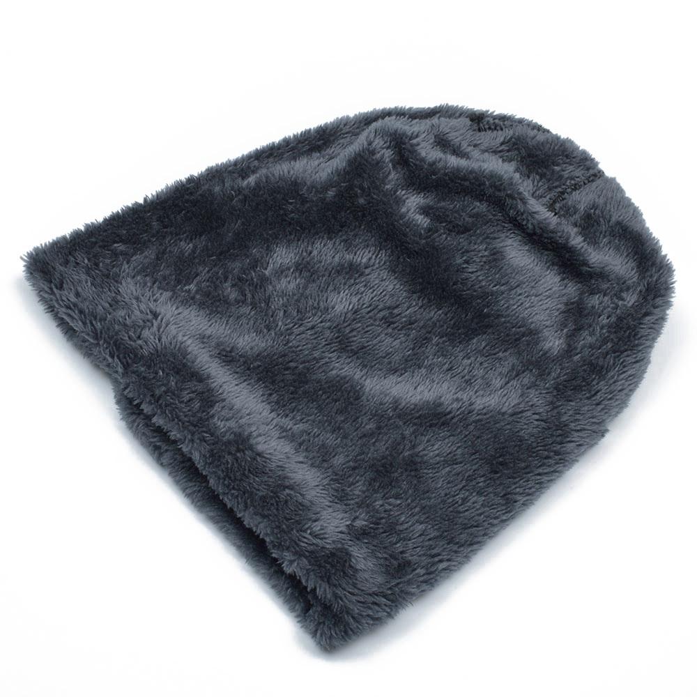 83792aacadc New Fashion Plus Velvet Beanies Winter Hats For Men Solid Beanie Hat Bone  Femini