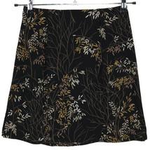 Ann Taylor Womens Skirt Black Tan Size Petite 2 2P Branches Leaves - $33.62