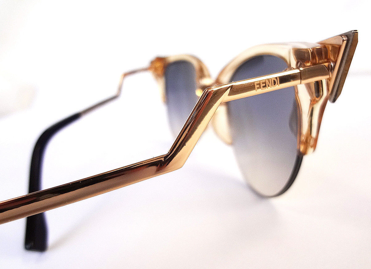 FENDI Women's Sunglasses FF0041/S Gold 52-20-135 MADE IN ITALY - New!