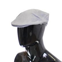 Dolce & Gabbana Blue Linen Logo Newsboy Cap Hat - $83.58+