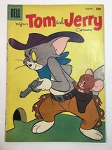 TOM & JERRY COMICS #162 JANUARY 1958 DELL COMICS TOM AS COWBOY COVER - $18.95