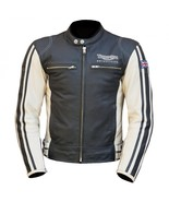 MEN,S TRIUMPH ASHFORD COWHIDE MOTORCYCLE LEATHER JACKET - $172.00