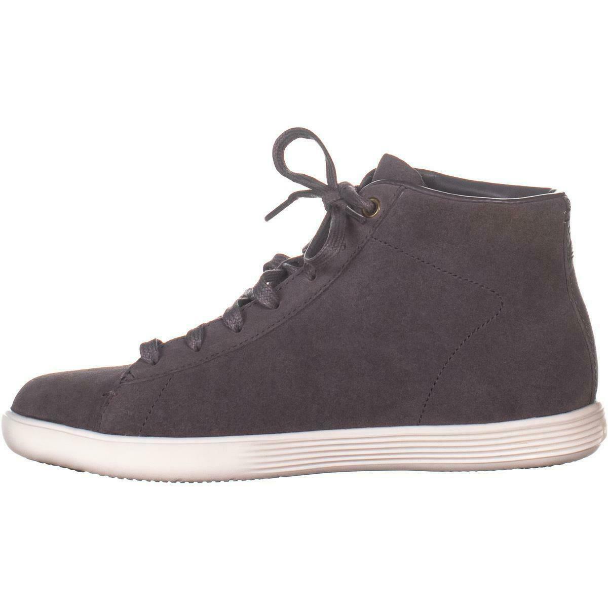 Cole Haan Grand Crosscourt High Top Sneakers, Stormcloud Camoscio, 6 US