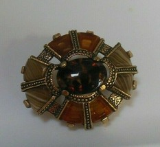 Vintage Signed Miracle Oval Brooch - $24.99