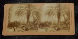 VINTAGE 1897 STEREOVIEW MONTE CARLO PARK   JAMES DAVIS  B.W. KILBURN - $1.98