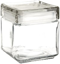 Anchor Hocking 1 Quart Stackable Square Clear Glass Storage Jar (Case of 4) - $33.34