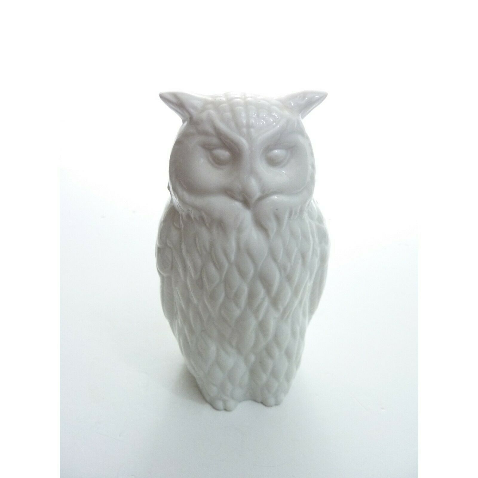 Nice White Ceramic Owl Statue Figurine Farmhouse