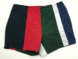 VINTAGE Inertia Swim Trunks Men's Size Large L Colorblock Blue Red Green... - $20.00