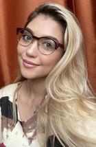 New BURBERRY B22613687 50mm Burgundy Clubmaster Round Women Eyeglasses F... - $149.99