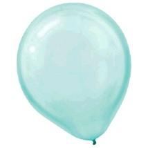 "Pearlized Aqua Blue Bulk Latex Balloons 12"" 100 Ct - $15.63"