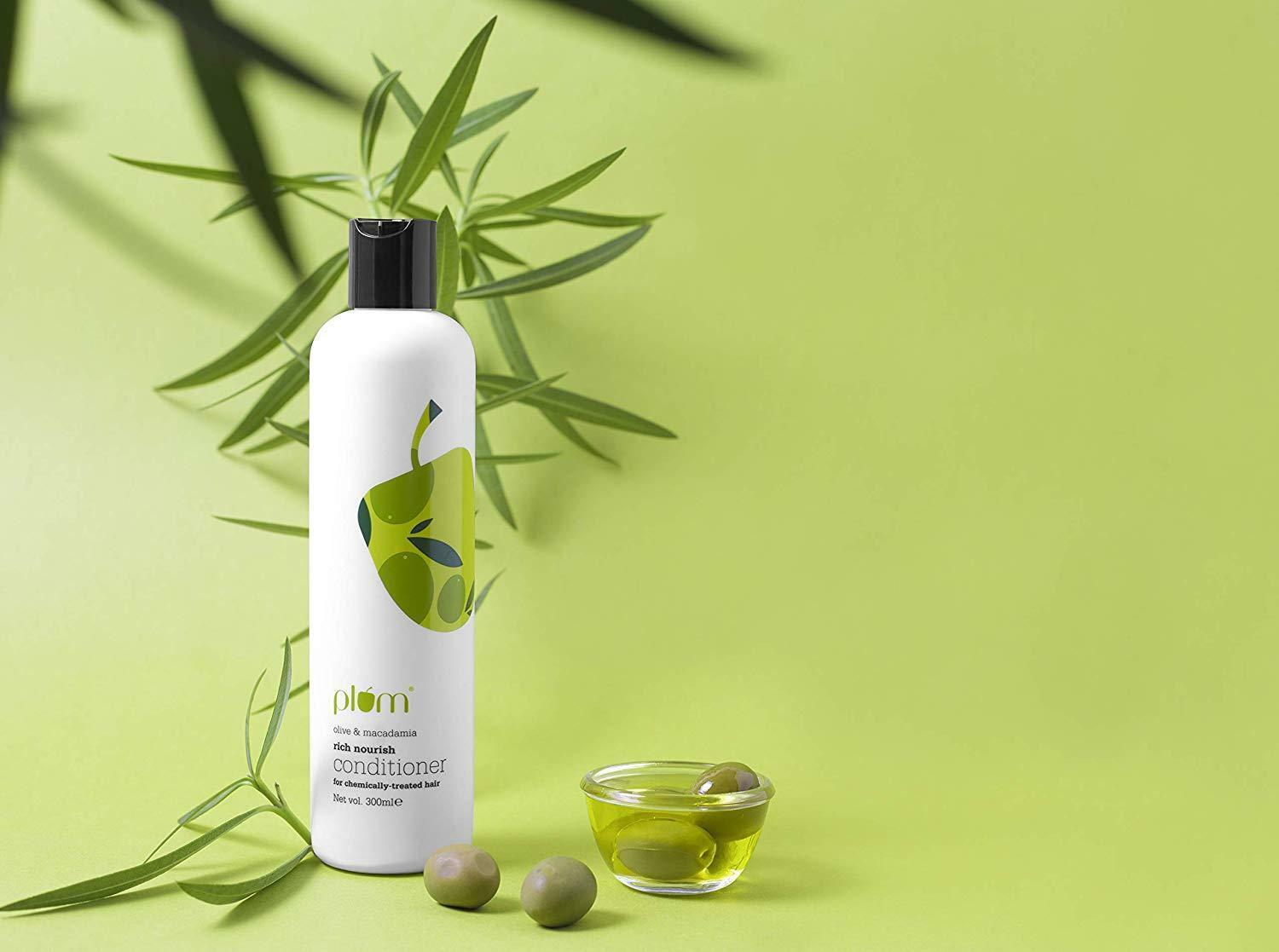 Plum Olive & Macadamia Rich Nourish Conditioner, Green, 300 ml (free shipping) image 2