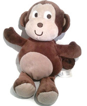 Carters Plush Just One You Brown Monkey Baby Toy Beanie Big Eyes 2012  - $17.59
