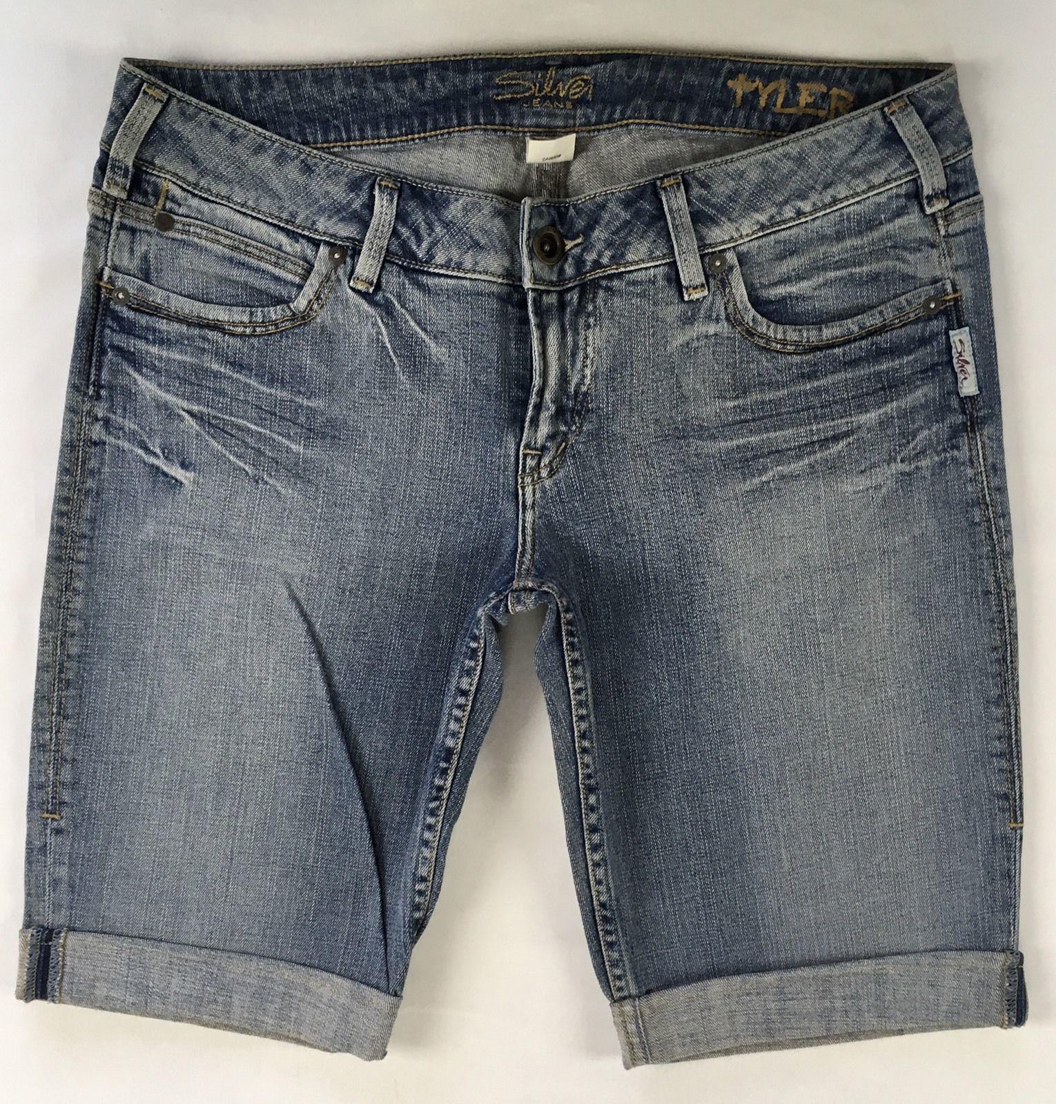 SILVER Jeans Sale Buckle Low Rise Tyler Denim Jean Stretch Bermuda Shorts 26, 32