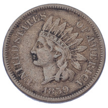 1859 1C Indian Head Cent (Very Fine, VF Condition) - $42.57