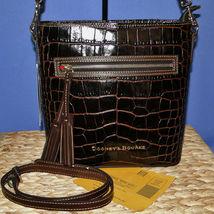 Dooney & Bourke Lani Croco Emb Leather Crossbody Brown T'Moro image 11