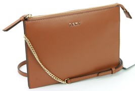 DKNY Donna Karan Brown Leather Crossbody Clutch Bag Handbag Small RRP £150 - $134.90