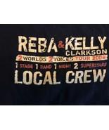 "Reba & Kelly Clarkson Tour 2008 ""2 Words 2 Voices"" Size XL  T-Shirt Road... - $7.84"