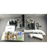 Nintendo Wii Black Console Bundle Motion Plus Remote Charging Dock, Gun,... - $198.00