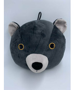 H&M Dark Gray Plush Bear Head Stuffed Animal Pillow Hanging Loop - $29.99
