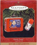 Hallmark 1999 Ornament - Howdy Doody Lunch Box Set of 2 Ornaments - $9.85