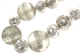 Beaded Necklaces Statement Necklaces For Women Clear Bead Necklaces Code 12873 - $18.80