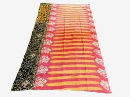 Indian Handmade Patch Work Design Quilt Kantha Bedspread Vintage Cotton ... - £61.42 GBP