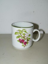 Vintage JKW JWK Bavaria Cherry Blossom Coffee Cup Mug Tea Fruit 14867 Bl... - $13.27