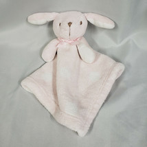 Blankets & Beyond Pink White Polka Dot Spots Bunny Baby Security Blanket - $39.59